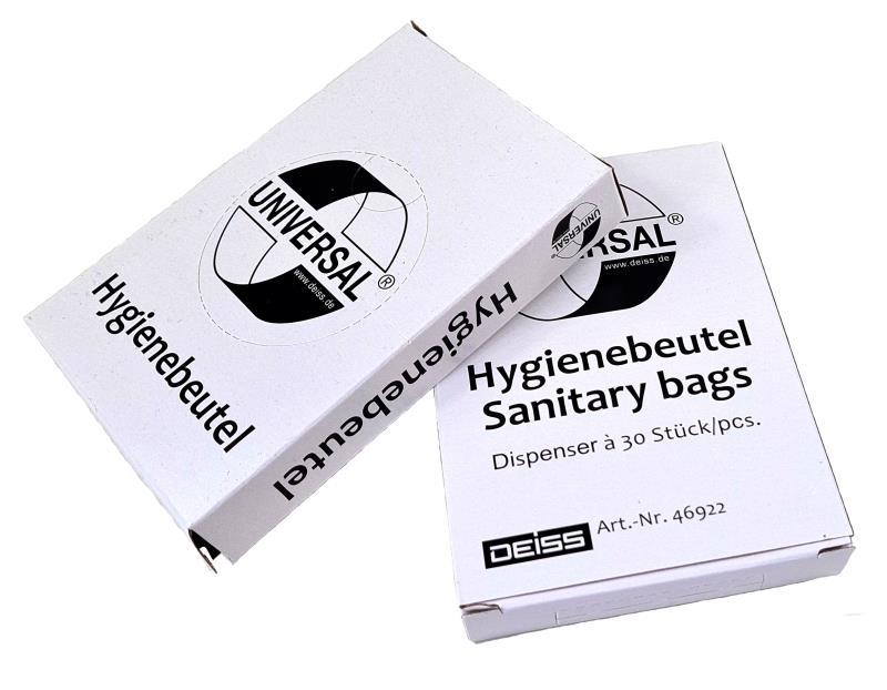 Hygienebeutel- Kunststoff - weiß