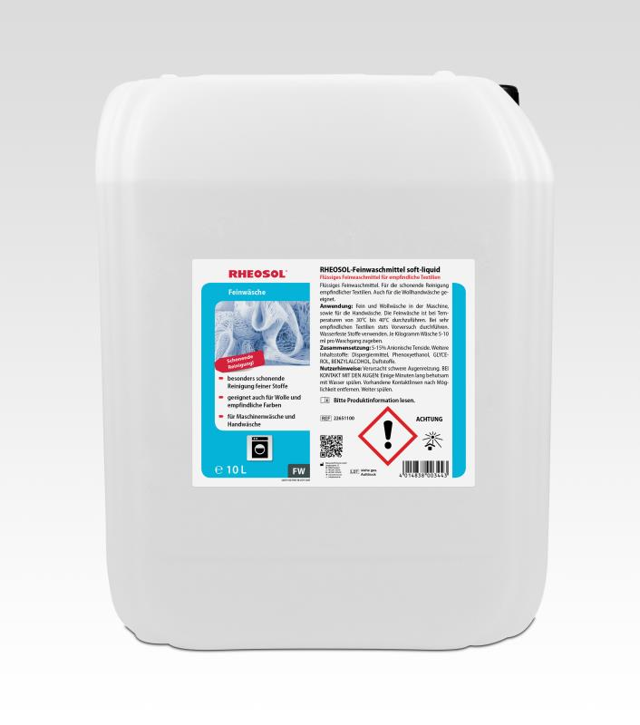 RHEOSOL-Feinwaschmittel soft-liquid - 10 Liter